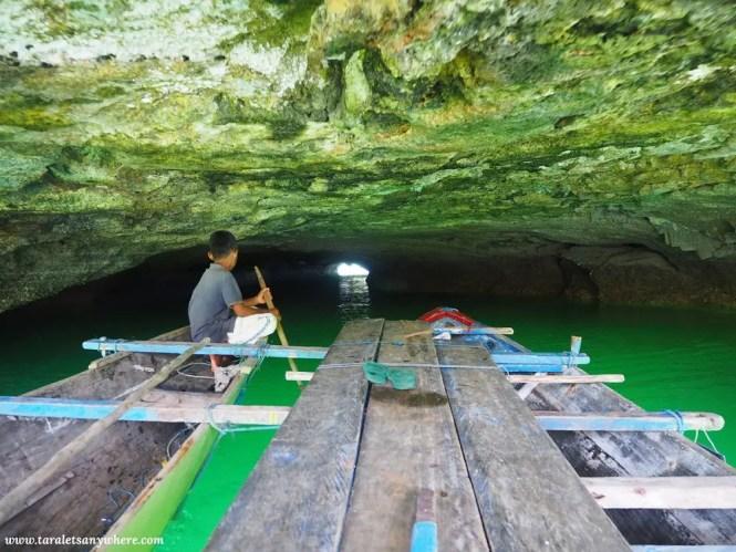 Tunnel in Napabale Lake, Muna Island, Sulawesi