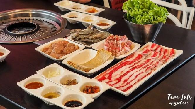 Food in All4U unlimited Korean BBQ