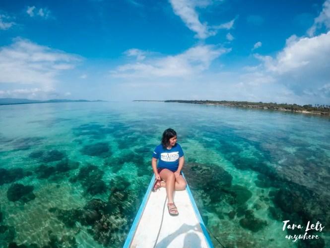 Snorkeling area in Maniwaya Island