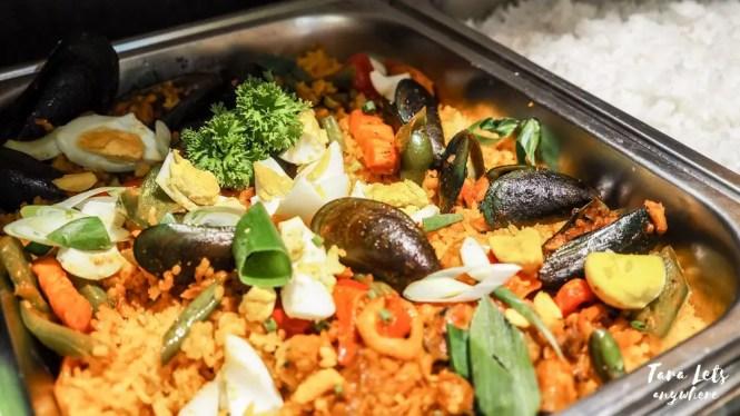 D Banquet buffet menu: paella