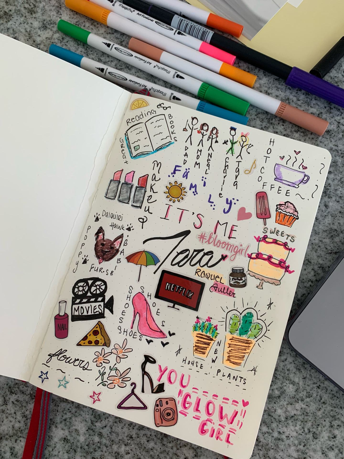 bullet journal about me
