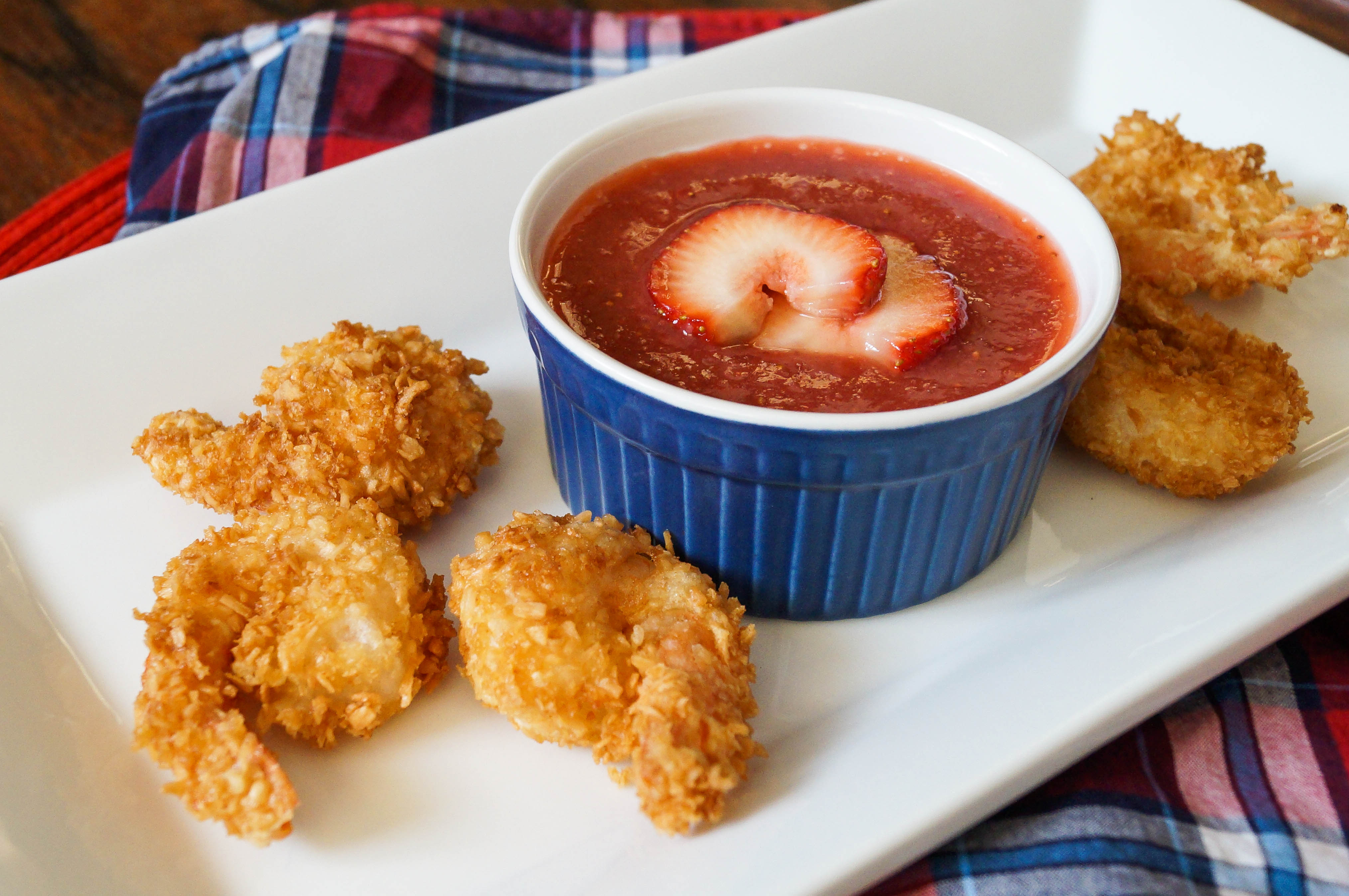Coconut Shrimp with Strawberry Dipping Sauce