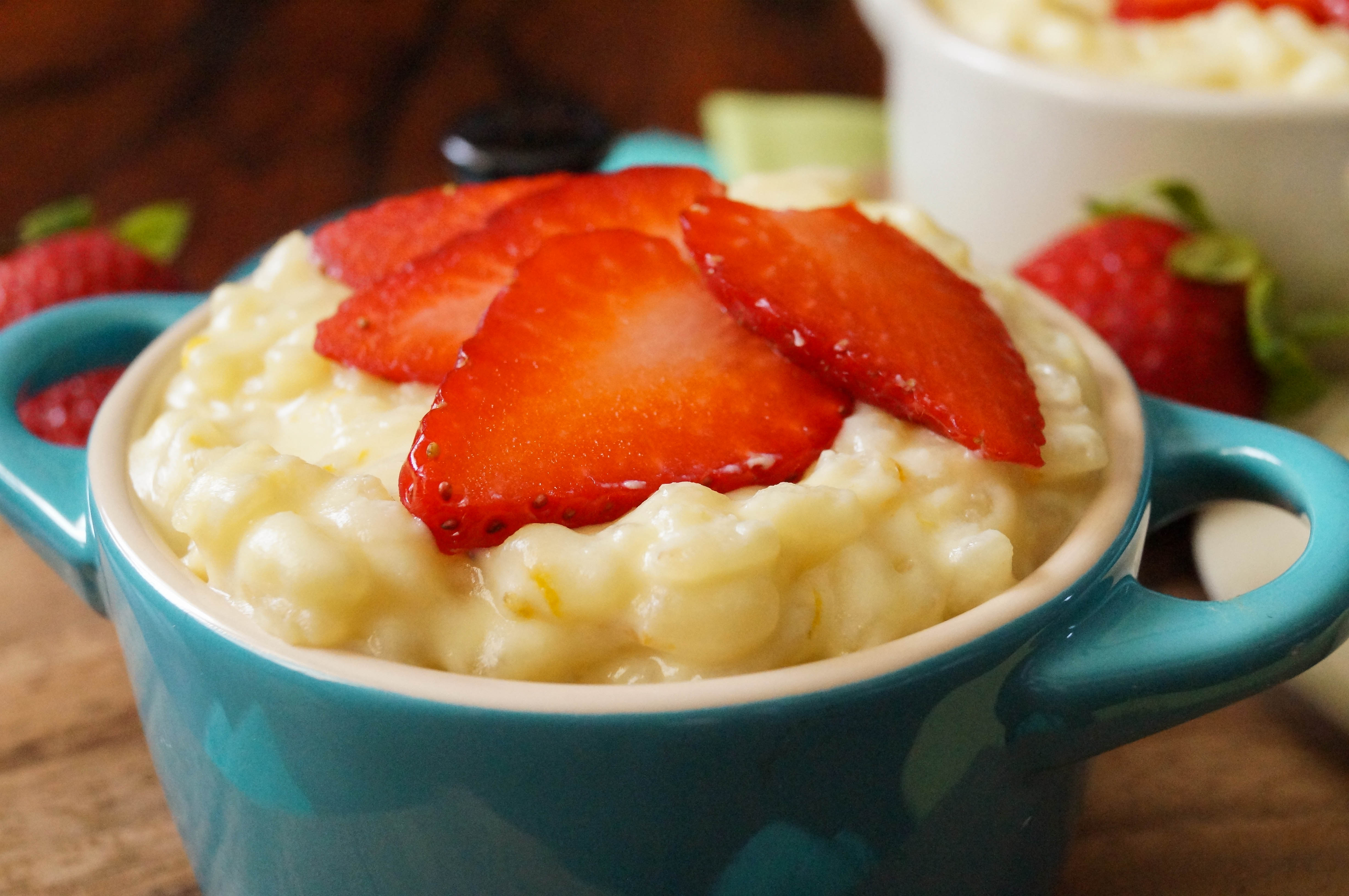 Sweet Orange Risotto with Strawberries