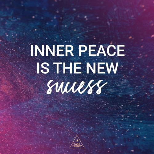 Inner peace is the new success