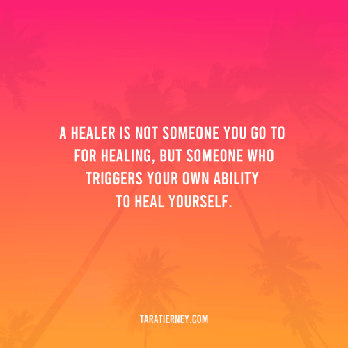A Healer triggers your ability to heal yourself