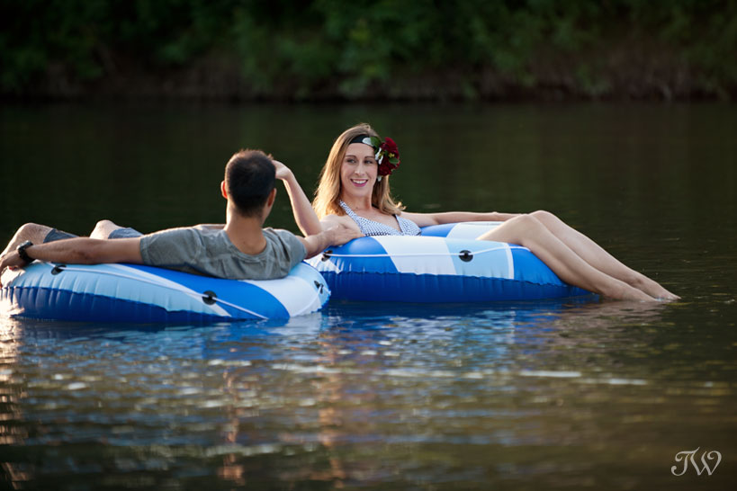 Elbow River love shoot captured by Tara Whittaker Photography