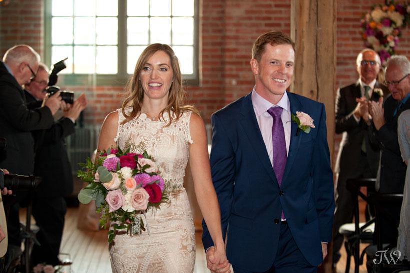 Just married at Charbar captured by Calgary wedding photographer Tara Whittaker