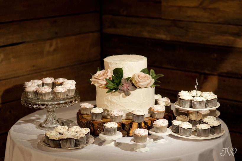 Wedding cakes at Cornerstone Theatre captured by Tara Whittaker Photography