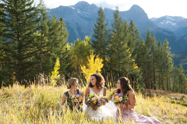 Silvertip wedding in fall