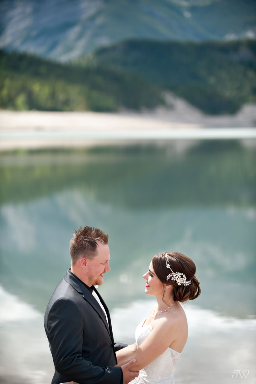 Barrier Lake bride and groom share their best wedding advice Tara Whittaker Photography