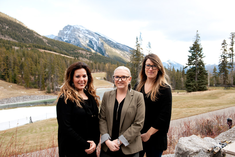 Wedding staff at Silvertip resort in Canmore captured by Tara Whittaker Photography