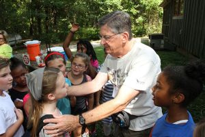 Banding Hummingbirds at the Festival. Photo courtesy of the Strawberry Plains Audubon Center