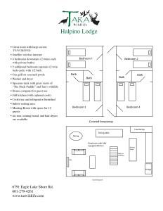 Halpino Lodge First Floor Layout