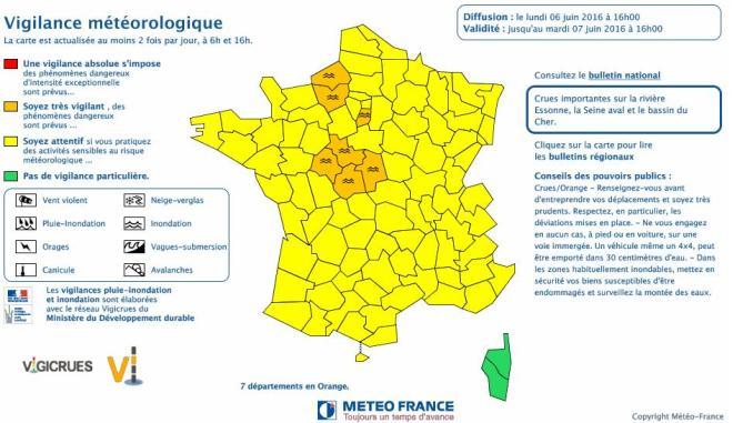 Risque d'orages de grêle lundi soir sur les Hautes Pyrénées