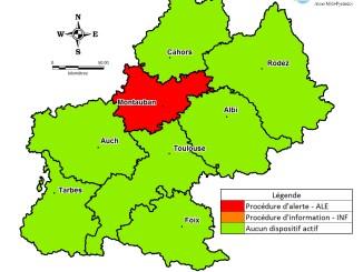 Pollution. léger mieux à Tarbes, Montauban en alerte rouge