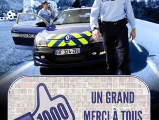 La gendarmerie des Hautes Pyrénées suivie par 1000 internautes sur facebook