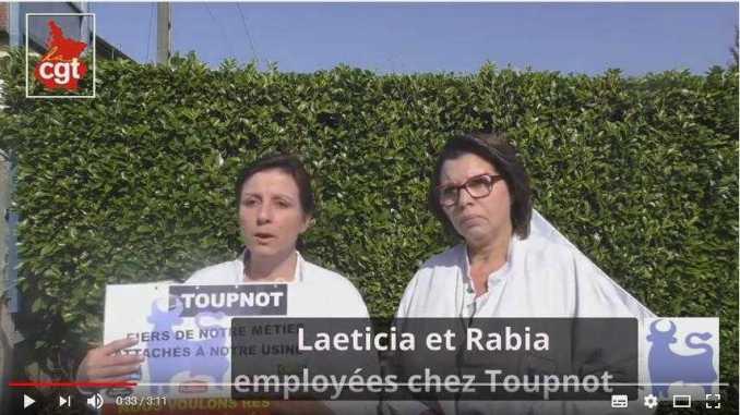 Toupnot Lourdes, solidarité avec les 76 salariés au chômage