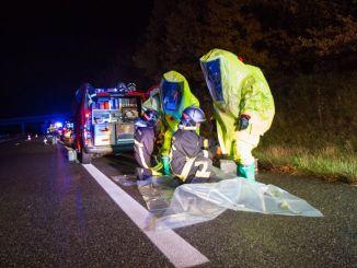 Un camion transportant 28 000 litres d'acide sulfurique accidenté sur l'autoroute Tarbes Toulouse