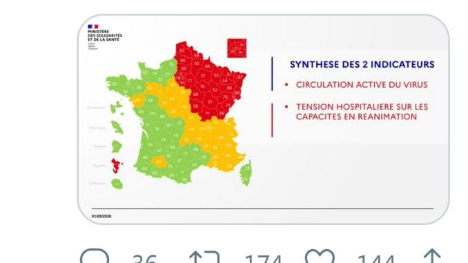 Coronavirus. les Hautes Pyrénées en vert, le Gers en orange