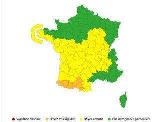 Vents violents les Hautes Pyrénées en alerte météo vigilance orange