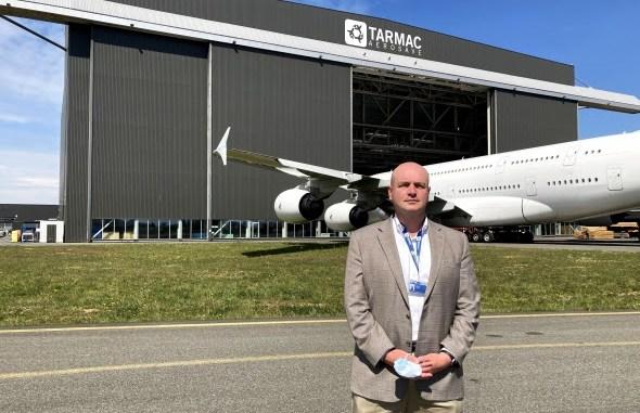 Frédéric Denise, directeur commercial et développement de Tarmac Aerosave