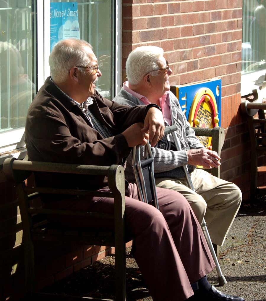 Visitors enjoying the sunshine at the Fair and Show 2015