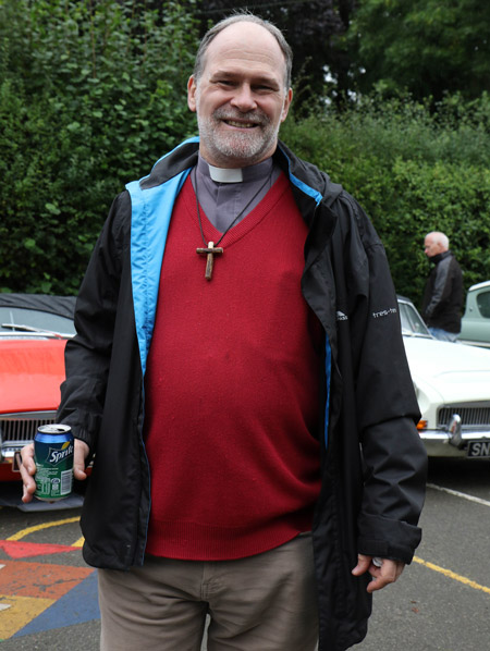 Rev Richard Clark at the Tardebigge Fair and Show 2016