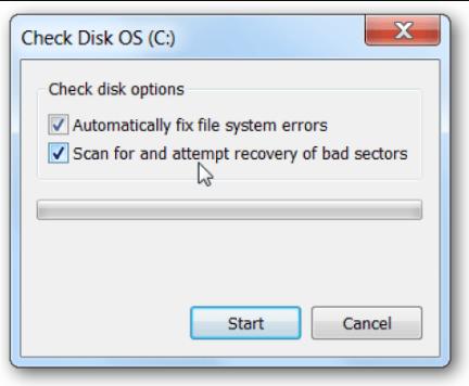 طريقة تشغيل Check Disk على الكمبيوتر
