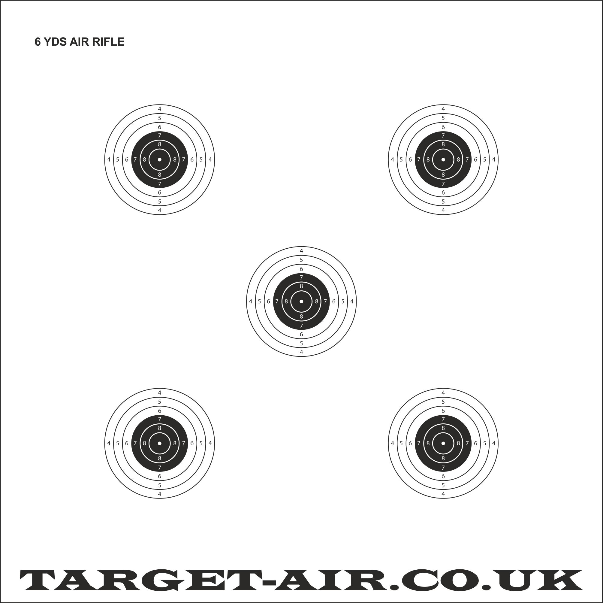 6 Yards Air Rifle Nsra