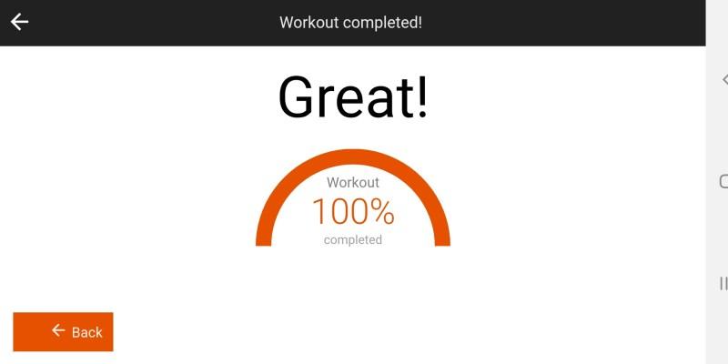 Linebreaker App - Workout Finished
