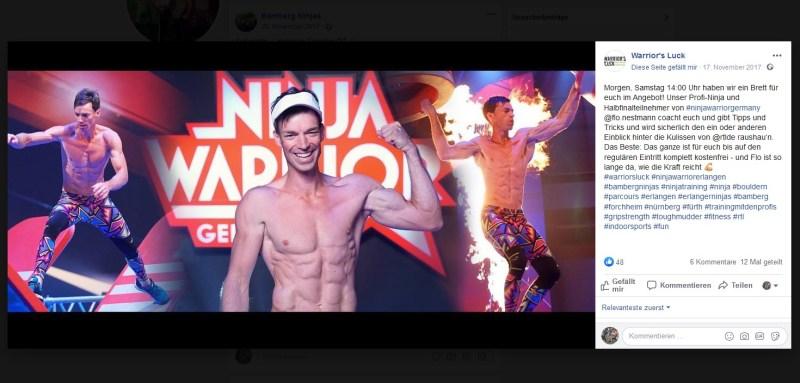 Florian Nestmann - mittlerweile auch als Ninja Warrior unterwegs