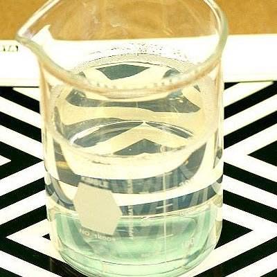 EM1000 in beaker to illustrate resin clarity