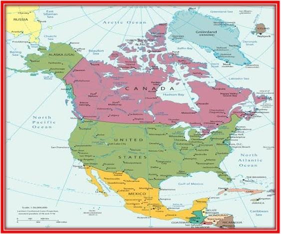 उत्तरी अमेरिका महाद्वीप