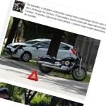 Motocyklista ranny na Jórskiego