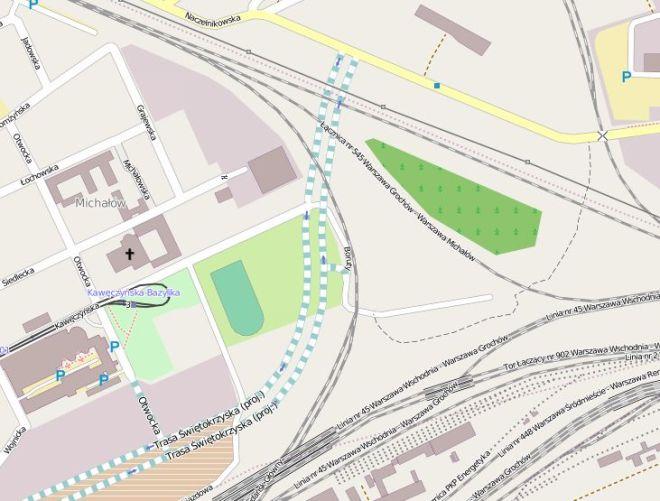 Budowa tego odcinka niedawno się rozpoczęła / Dane mapy © użytkownicy OpenStreetMap, CC BY-SA