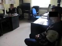 Mariusz Z. w komisariacie przy Chodeckiej / fot. Policja
