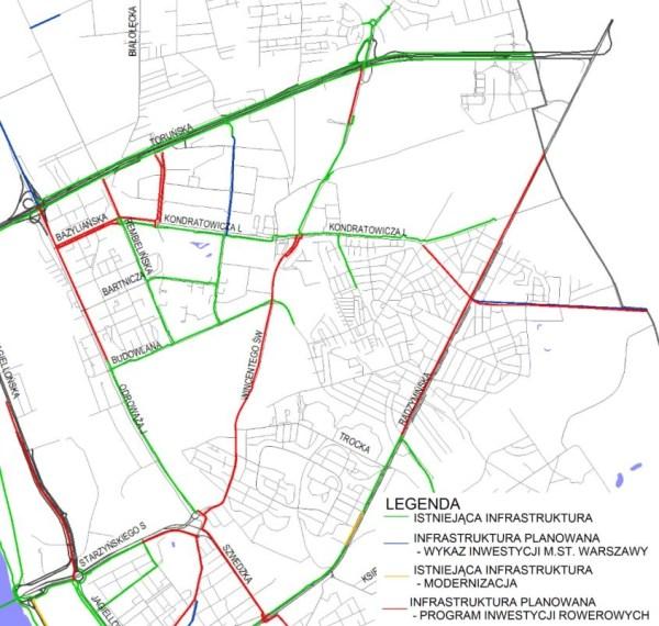 Program Rozwoju Tras Rowerowych / rys. materiały urzędu miasta
