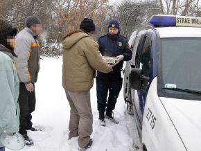 Zdjęcie z zimowej akcji strażników / fot. Straż Miejska