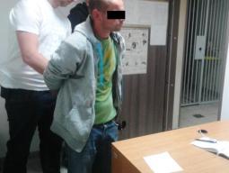 39-letni Maciej D. już na komendzie /fot. Policja