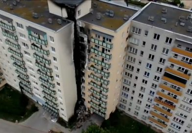 Nocny pożar w Pekinie! Płomienie sięgały dachu