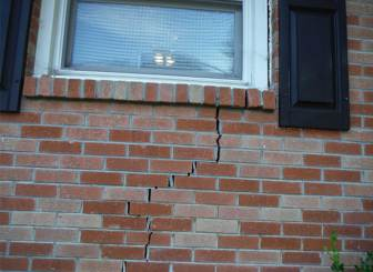 exterior cracking by window