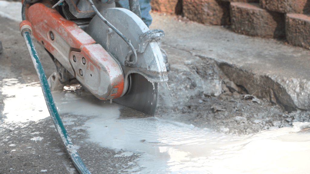 Cutting concrete for concrete lifting