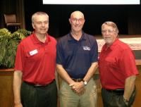 Tar Heel Owner, Pete Burgess, with Boone and Blowing Rock Chamber Executive Directors, Dan Meyers and Charles Hardin.