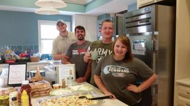 Team Tar Heel cooks Monthly Meal at Ronald McDonald House