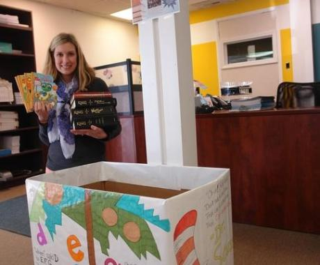 THBS Holds Reader to Reader Book Drive