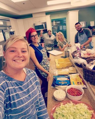 SECU Family House Enjoys Homemade Meal From Tar Heel Basement Team