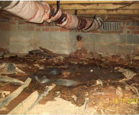 Tar Heel Tip of the Week: Negative Effects of Air Ducts in a Dirt Crawl Space