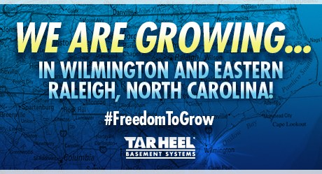 Tar Heel Basement Systems Expands to Wilmington and Eastern Raleigh