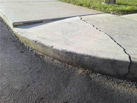 bad concrete sidewalk