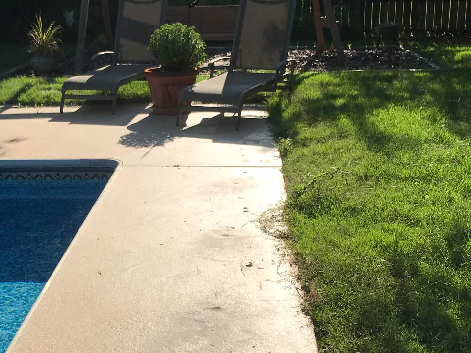 after pool deck leveling